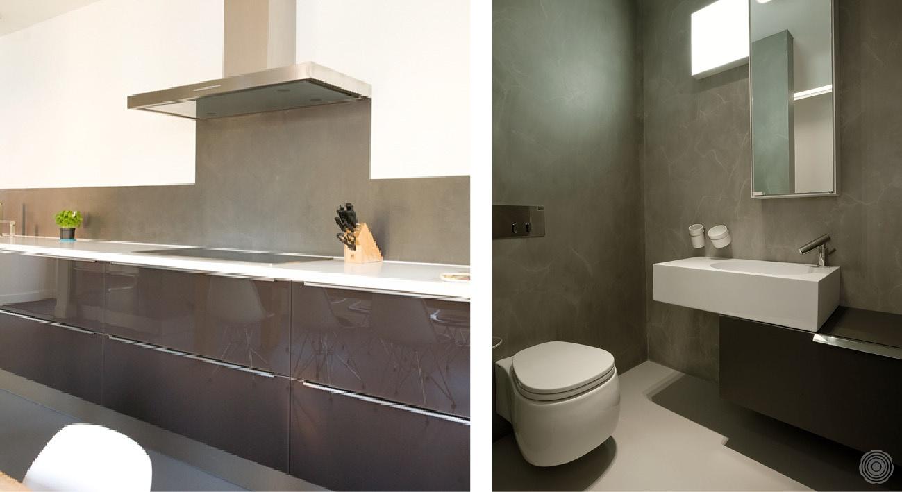 Nahtlose Wände Ein Haus Ohne Fliesen SENSO Gussböden - Küchen wände ohne fliesen