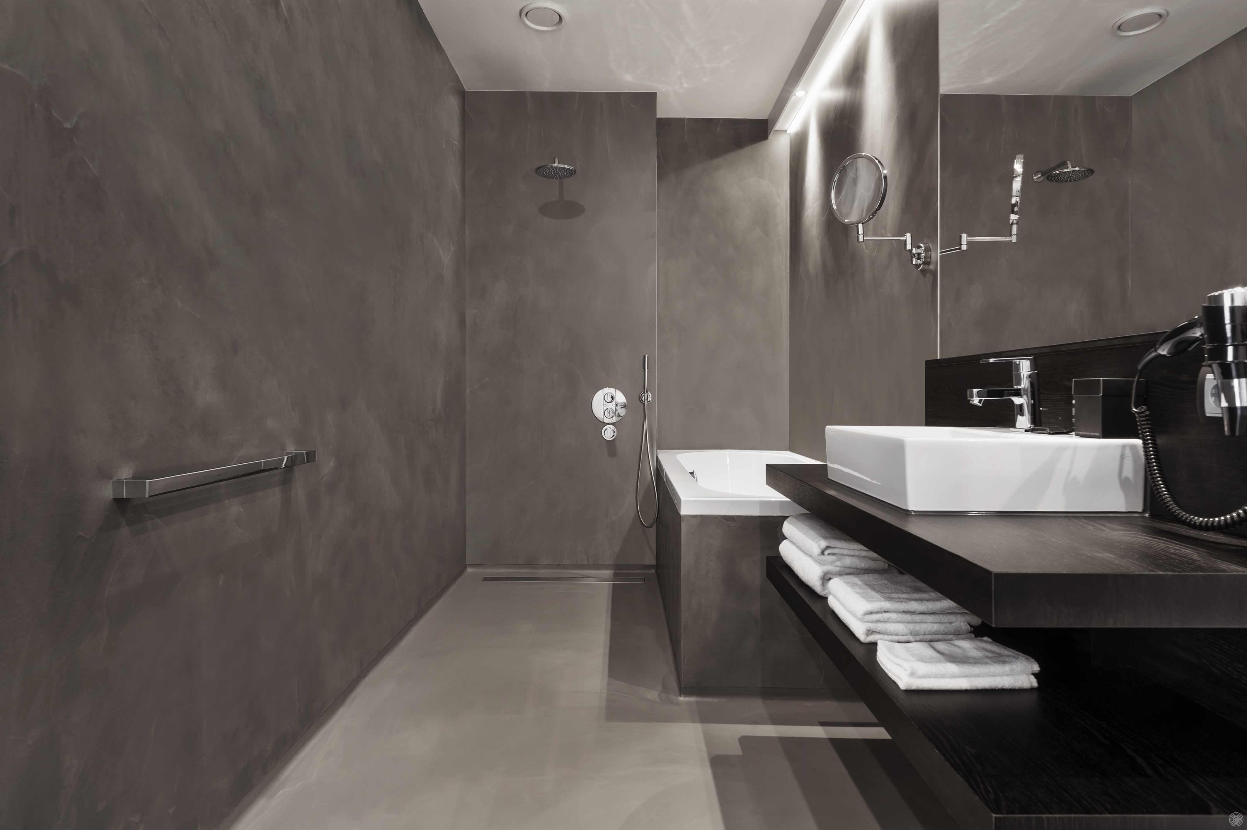 Wandverkleidung Bad Ohne Fliesen nahtlose wände, ein haus ohne fliesen | senso gussböden